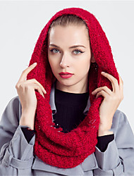 Women Casual Autumn And Winter Mohair Solid Color Infinity Scarf Couple Thick Warm Scarves