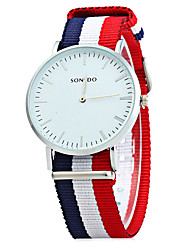 SONSDO Quartz Watch with Canvas Band for Men