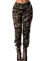 Mulheres Calças Vintage / Moda de Rua Skinny / Chinos Poliéster Micro-Elástica Mulheres