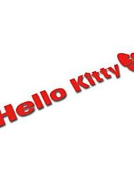 Kitty Hello Car Body Stickers Reflective Loss Prevention Paste Cartoon Door Handle Stick