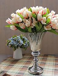 1 1 Ramo Poliéster / Plástico Tulipas Flor de Mesa Flores artificiais 12.2inch/31cm