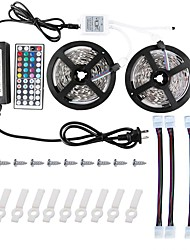 KWB 2*5M 5050 RGB Led Strip Lights Kit  with 44key IR Controller and 12V 6A Power Supply