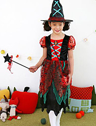 Girl's Party/Cocktail Halloween Patchwork DressCotton / Polyester All Seasons Black