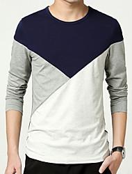 Sweatshirt Pour des hommes Mosaïque Décontracté Coton Manches longues Noir / Bleu / Gris