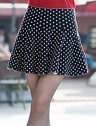 Damen Röcke - Retro / Niedlich Übers Knie Polyester Mikro-elastisch