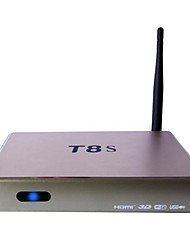 Ott T8s android 4.4 caixa de Smart TV HD 3D 1g ram 8g rom Quad Core wi-fi ouro
