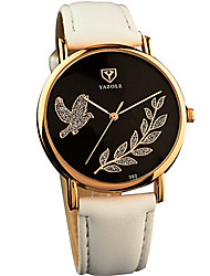 YAZOLE® Women's Quartz Casual Fashion Watch Simple Free Bird Leaf Classical Round Dial Watch Cool Watch Unique Watch