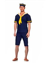 Costumes de Cosplay Costume de Soirée Soldat/Guerrier Marin Costumes de carrière Fête / Célébration Déguisement d'Halloween BleuCouleur