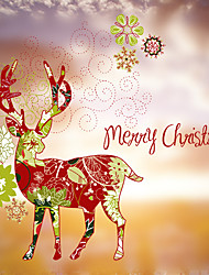 Window Sticker Window Decals Style Christmas Deer Matte PVC Window Sticker - (60 x 58)cm