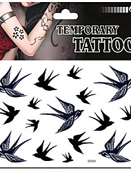 1pcs Good waterproof swallow bird tattoo pattern tattoo stickers