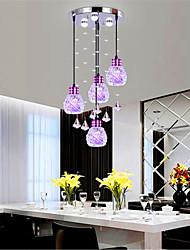 Lampe suspendue ,  Contemporain Lanterne Plaqué Fonctionnalité for Cristal LED Style mini Designers MétalSalle de séjour Chambre à