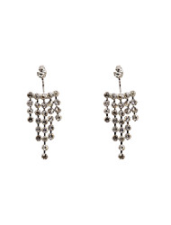 Fashion Women Rhinestone Chain Front And Back Earrings (one earring two ways to wear)