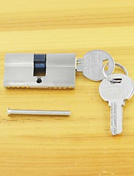 Keyed Lock Cylinder Key/Key 60mm(30/30)Lock Cylinder 3 Keys Bushed Nickel