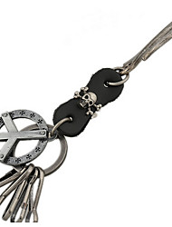 Key Chain / Punk Fashion Key Chain Brown Metal / PU Leather