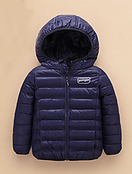 Boy's Casual/Daily Solid Down & Cotton PaddedSpandex Winter / Fall Black / Blue / Green / Red