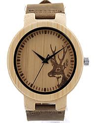 Wood elkhorn Wooden Watch pokemon go leather Japan Quartz watch bobo Watch bamboo relogio feminino