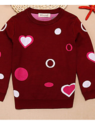 Boy's Casual/Daily Polka Dot Sweater & CardiganCotton Winter / Spring / Fall Black / Red