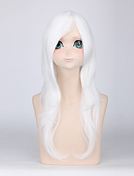 Fashion Long Straight Wigs White Color Synthetic Cosplay African American Wigs