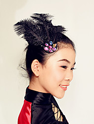 Performance Modern Dance Headpieces Women's / Performance Feathers Crystals / Feathers /Fur 1 Piece Black