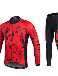 Miloto Cycling Jersey with Tights Men's Unisex Long Sleeves Bike Pants/Trousers/Overtrousers Tracksuit Jersey Tights Tops Clothing Suits