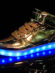LED Light Up Shoes, Running Shoes Men's Shoes Sneakers Comfort / Flats Party / Athletic / Casual Flat Heel Sequin / Gold / Silver