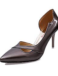 Damen High Heels Komfort PU Herbst Normal Komfort Stöckelabsatz Silber Rosa Bronze 7,5 - 9,5 cm