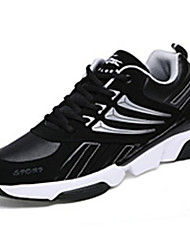 Men's Sneakers Spring / Fall Comfort  Athletic Flat Heel Lace-up Black and Red / Black and White / Royal Blue Walking