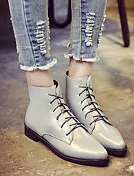 Women's Boots Spring Fall Riding Boots PU Outdoor Low Heel Others Black Gray Walking