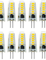 10pcs g4 12led smd5733 2w 200-300lm chaud blanc / blanc décoratif LED bi-pin lumières dc12v