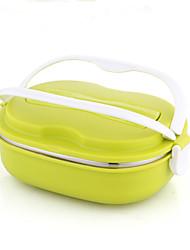 grande capacité boîte à bento en acier inoxydable résistant de haute qualité couleur aléatoire des ustensiles de cuisine pupillaire de