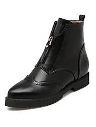 Damen-Stiefel-Büro / Kleid / Lässig-Lackleder / Kunstleder-Flacher Absatz-Komfort / Armeestiefel / Stifelette / Pumps / Spitzschuh /