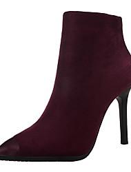 Women's Heels Winter Comfort Suede Dress Stiletto Heel Others Black / Gray / Orange / Burgundy / Khaki Walking