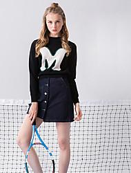 Damen Röcke - Einfach Übers Knie Polyester Unelastisch
