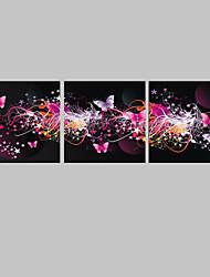 e-HOME estiró la impresión del arte de la lona llevado el efecto flash de la mariposa LED fijó de 3