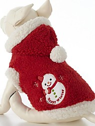 Lovely Keep Warm Snowmen Patterns Pet Coat