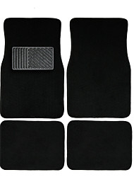 AUTOYOUTH 4pc Full Set Heavy Duty Deluxe Carpet Floor Mats Universal Fit Mat for Car SUV Van & Trucks - Front & Rear