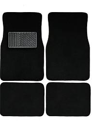 autoyouth 4pc conjunto completo pesados tapetes de chão deluxe tapete tapete de encaixe universal para o carro suv van&caminhões -