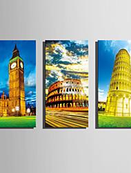 Famoso / Arquitetura Impressão em tela 3 Painéis Pronto para pendurar , Vertical