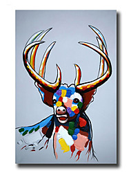 Modern Wall Art Oil Painting Abstract Elk Pictures Hand Painted On Canvas With Stretched Frame