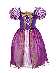 Purple Short sleeve Flower Girl Dresses Pageant Dresses For Girls