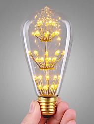 3W Lampadine LED a incandescenza ST64 47 COB 360 lm Bianco caldo Decorativo AC 220-240 V 1 pezzo E27