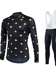 fastcute Cycling Jersey with Bib Tights Women's Men's Unisex Long Sleeve BikeJersey Tights Bib Tights Pants/Trousers/Overtrousers