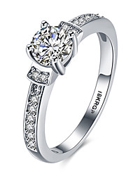 lureme 18kRPG Cubic Zirconia Bowknot Shape Engagement Ring