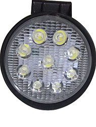Auto Parts 9 Bead 27W Round Explosion-Proof Waterproof Truck LED Working Headlight