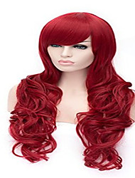 Cosplay Wig Direct Selling Fashionable Dyed Red