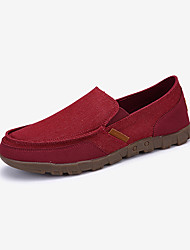 Men's Loafers & Slip-Ons Spring / Fall Comfort PU Casual Flat Heel Slip-on Blue / Gray / Burgundy / Khaki Sneaker