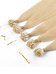 0.5g/s 100s Brazilian Micro Ring Hair Extension Silk Straight 18-26 Micro Rings Links Hair Extension