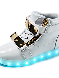 Para Niño-Tacón Plano-Botas a la Moda Light Up Zapatos-Botas-Exterior Informal Deporte-Sintético-Plata Oro