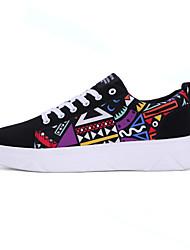 Atlético primavera sapatos masculinos / cair tecido conforto casual calcanhar plana preto sapatilha / azul / vermelho