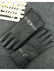 Men Winter Skin Thermal Insulation And Wind Proof Waterproof Riding Motorcycle Gloves